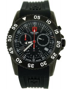 Swiss Military Catalina Chronograph Black Rubber Date Gents Watch SM06-4C6B