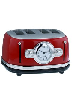JD Techno Red Toaster Miniature Ornamental Novelty Collectors Desk Clock 296322