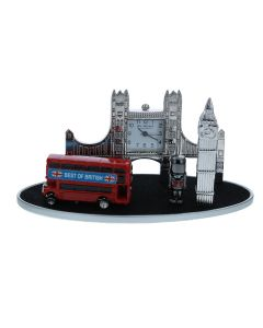 WM Widdop Miniature London Theme Collectors Novelty Desktop Clock 9613