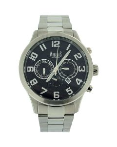 Arbutus Gents Automatic Day Date Month & 24 Hour All Stainless Steel Watch AR505
