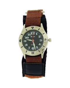 Boxx Brown Army Camouflage Easy Fasten Strap Childrens Boys Sports Watch Boxx193