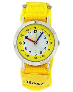 Boxx Girls - Boys Analogue Yellow & White Dial & Yellow Easy Fasten Kids Watch