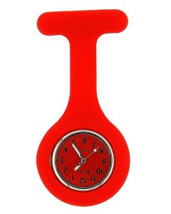 Boxx Unisex Bright Red Luminous Hands Rubber Infection Control Nurses Fob Watch