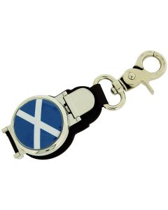 Boxx Gents Watch Scottish Flag Picture Keyring Fob & Magnetic Closure Boxx345