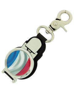 Boxx Gents French Flag Picture Keyring Fob Watch With Magnetic Closure Boxx349
