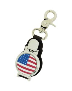 Boxx Gents American Flag Picture Keyring Fob Watch With Magnetic Closure Boxx353