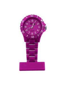 Boxx Funky Pinky Purple Rotating Bezel Nurses Fob Watch Boxx418