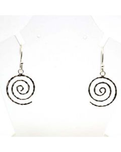925 Silver Swirl Drop Earrings By the Olivia Collection
