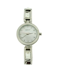 DKNY8617 Ladies Mother Of Pearl Dial Stone Set All Stainless Steel Dress Watch