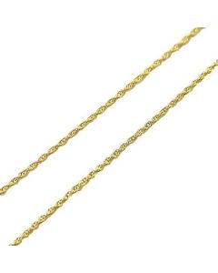 "9 Carat Yellow Gold Fine 18"" Chain By The Olivia Collection"