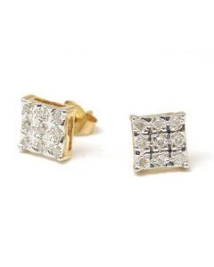 The Olivia Collection 9ct Yellow Gold 0.20ct Diamond Stud Earring