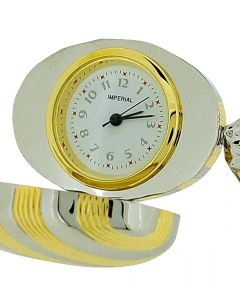 GTP Unisex Novelty Collectors Goldtone & Silver 2 Tone Sweet Clock IMP1008