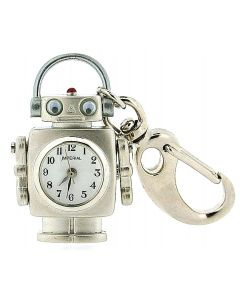 GTP Unisex Novelty Robot With Moving Eyes Clock Keyring An Ideal Gift  IMP710