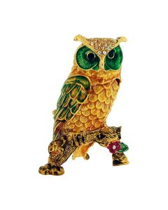 The Olivia Collection Rhinestone Set Trinket/Keepsake Owl + Branded Box