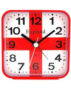 PWL Red England St George's Cross  Alarm Clock For UK Use PWL008
