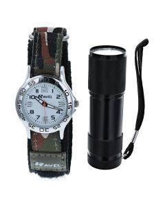 RAVEL Boys Army Camoflage Watch and Micro Torch Gift Set  R4403a