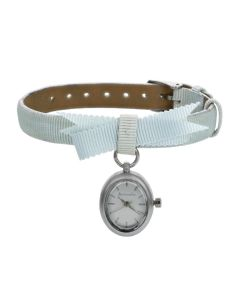 "Accessorize S1065 Ladies Light Blue ""Bow Tie"" Strap Watch S1065"