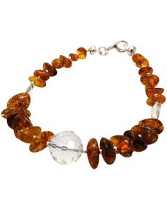 The Olivia Collection Sterling Silver Amber Bracelet made with Swarovski Element