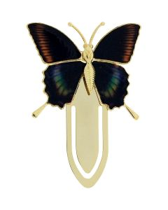 The Olivia Collection Goldtone Multicoloured Shades Butterfly Bookmark SC1224