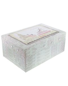 FMG Wholesale  - Quantity of 10 Elegance Two Tiered Jewellery Box With Mirror SC1710 X 10