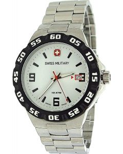 Swiss Military Racer Gents Date All Stainless Steel Sports Watch SM06-5R1W