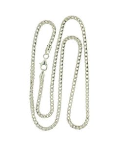 "925 Silver 18"" Heavy Foxtail Necklace by The Olivia Collection"