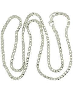 "925 Silver 20"" Heavy Foxtail Necklace by THe Olivia Collection"
