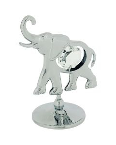 Crystocraft Baby Elephant Freestanding Silvertone Ornament Made With Swarovski Crystals SP312
