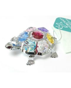Crystocraft - Turtle with decorations made with Swarovski crystals