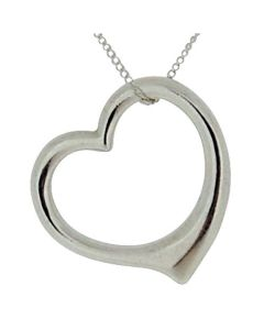 "925 Silver Floating Heart Pendant on 18"" Chain By The Olivia Collection"