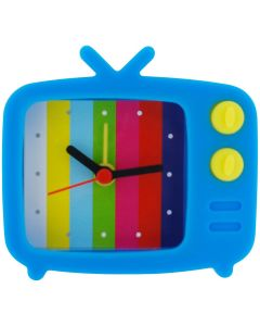 The Olivia Collection Blue Novelty Silicone Alarm Clock TV Style & Test Picture