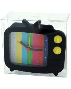 The Olivia Collection Black Novelty Silicone Alarm Clock TV Style & Test Picture
