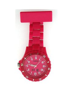 Boxx Hot Pink Rotating Bezel Nurses Fob Watch BOXX34