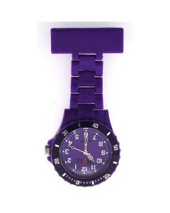 Boxx Classic Purple Rotating Bezel Nurses Fob Watch BOXX30