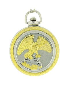Boxx Eagle Jumbo Size Pocket Watch on 12 Inch Chain Boxx79