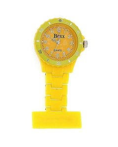 Boxx Hot Yellow Rotating Bezel Nurses Fob Watch F043