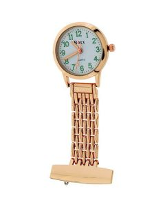 Boxx Ladies - Gents  Rose tone Metal Professional Nurses Fob Watch Boxx360