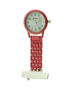 Boxx Ladies - Gents  Analogue Pink Metal Professional Nurses Fob Watch Boxx361