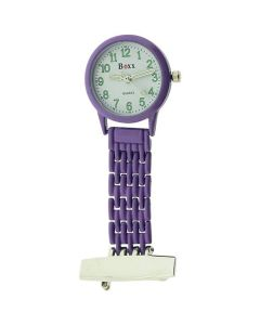 Boxx Ladies - Gents  Analogue Purple Metal Professional Nurses Fob Watch Boxx362