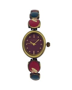 Kahuna Ladies Purple Dial Multicolour Brasstone Bracelet Strap Watch AKLB-0034L