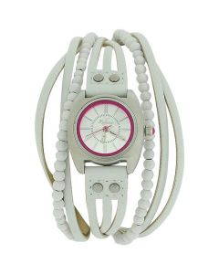 Kahuna Ladies Analogue White Multi Thong PU Strap Fashion Watch AKLS-10013L