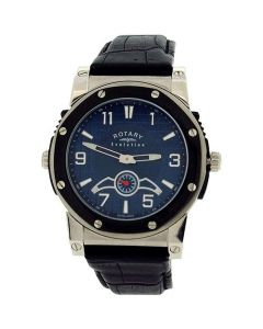 Rotary Evolution Gents Reversible Dial Black Leather Strap Watch EGS0007/TZ2/04