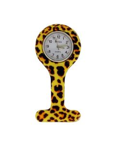 Boxx Analogue Display Funky Tiger Design Silicone Nurses Fob Watch Boxx377