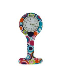 Boxx Analogue Display Funky Circle Design Silicone Nurses Fob Watch Boxx379