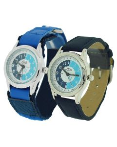 2 X Relda Time Teacher Blue Easy Fasten & Buckle Kid Boy Watch Gift Set + Award