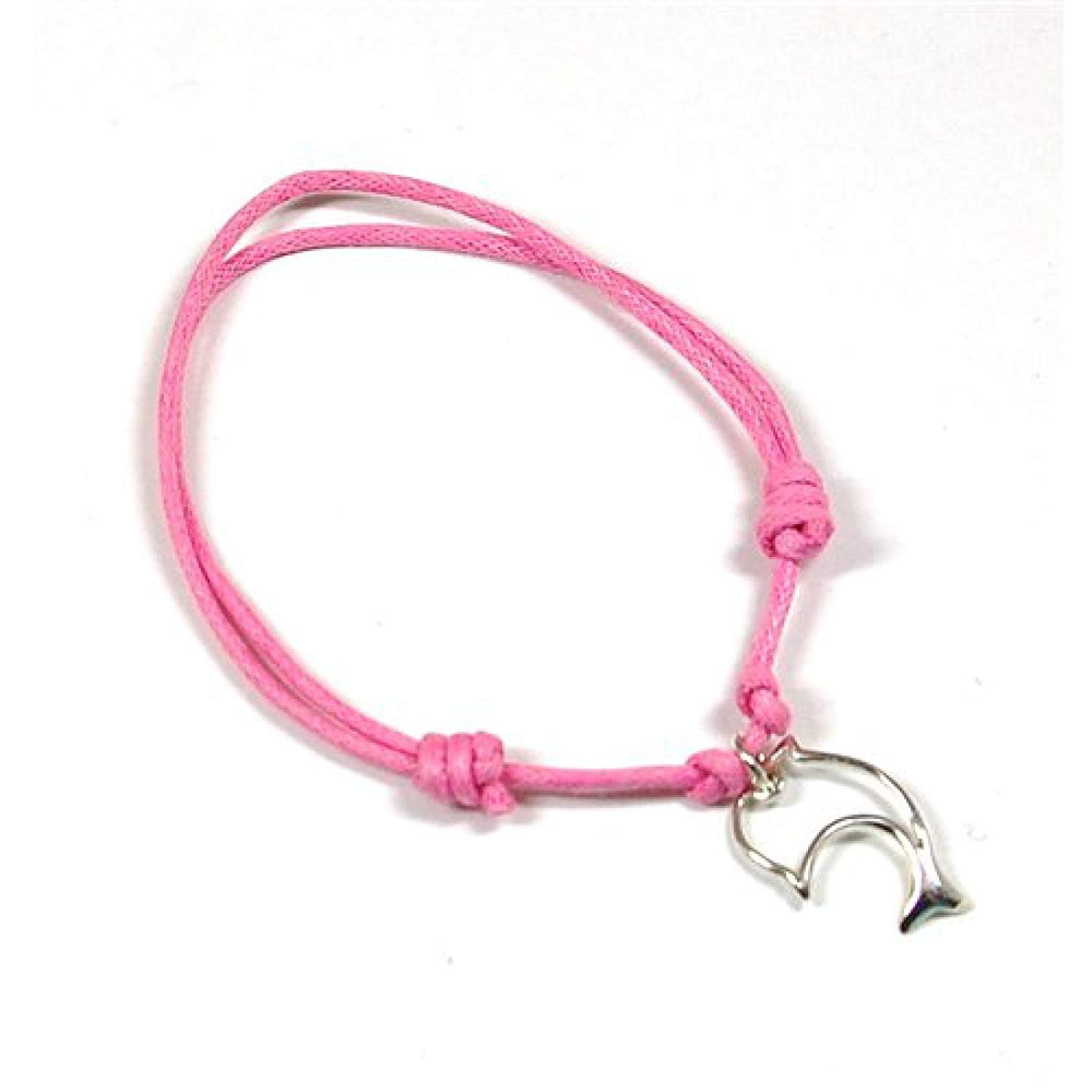 Dolphin Charm Bracelet: Jo For Girls Sterling Silver Dolphin Charm Adjustable Pink