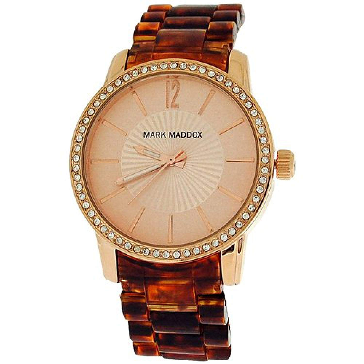 e8c9a99264 Details about Mark Maddox Ladies Goldtone Dial Animal Print Bracelet Strap  Watch MP3004-99