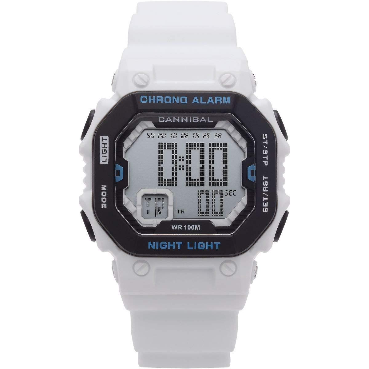 9c226a911 Details about Cannibal Boys/Teen Digital Chronograph White Silicone Strap  Watch CD276-09